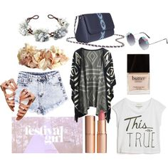"""""""Festival girl"""" by busta on Polyvore; Featuring the Grey Bumblebee crossbody bag from BÙSTA #busta #bustabags #leatherbag #leather #streetstyle #blue #embroidery #folklore #handmade #crossbody #leathercrossbody #metalchain"""