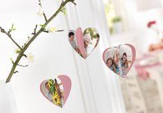 Viele tolle Bastelideen zum Muttertag (Crafts, DIY, Inspiration, easy, crafting, pink) >> Anhänger in Herzform