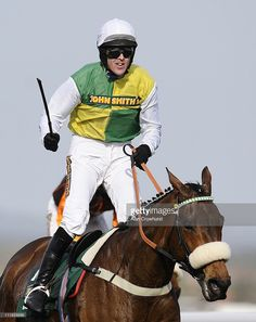Jason Maguire riding Ballabriggs wins The John Smith's Grand National Steeple Chase at Aintree racecourse on April 2011 in Liverpool, England. Irish Racing, Steeple Chase, Liverpool England, Sport Of Kings, John Smith, Grand National, Horse Racing, Jumpers, Ponies