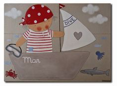 CUADROS PERSONALIZADOS Hand Applique, Applique Patterns, Applique Designs, Doll Patterns, Sailor Baby, February Baby, Baby Apps, Patchwork Baby, Patch Quilt