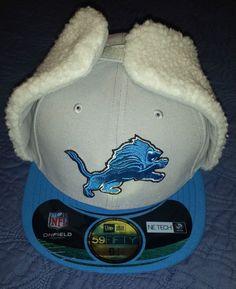 new style 862ba fb48d NEW ERA 59Fifty Detroit Lions Dog Ear Hat Cap Sz 6 7 8 Fitted NFL