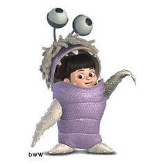 costume inspiration Monsters Inc - Boo