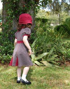 1940s inspired little girl dress