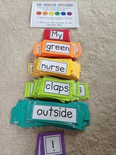I can't wait to use this for my word work stati… Silly sentence project complete! I can't wait to use this for my word work stations. 1st Grade Writing, Teaching Writing, Teaching Tools, Teaching English, Teaching Grammar, Word Work Stations, Literacy Stations, Literacy Centers, Writing Centers