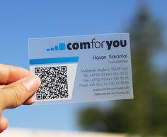 Visitenkarte - transparent - satiniert - qrcode - Ideen - online - shop - www.bce-online.com/de