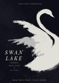 Ballet Art, Ballet Dancers, Swan Lake Ballet, Ballet Posters, White Swan, Black Swan, Lake Art, Beautiful Posters, Gouache Painting