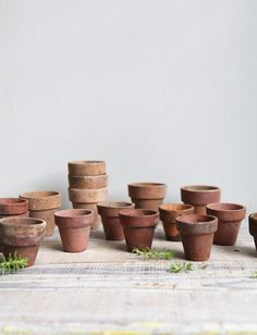 Antique Seed Starter Planting Pots by ethanollie on Etsy, $9.00