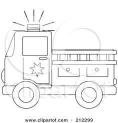 Fire engine template for the boy pinterest fire fire trucks fire truck stencil clipart blue eyed fire truck character royalty free vector maxwellsz