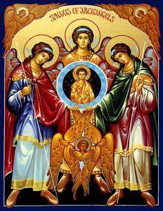 - Synaxis of Archangels Icon Religious Icons, Religious Art, Religious Tattoos, Saint Joseph School, St Joseph, Religion, Saint Esprit, Byzantine Icons, Catholic Art