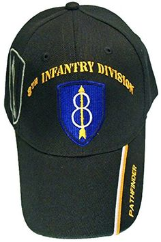 u.s. army division and brigade baseball caps quality embroidered hats 8th infantry division pathfinder
