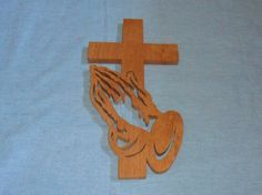 wood carving praying hands with cross patterns Painted Wooden Crosses, Wood Crosses, Scroll Saw Patterns Free, Cross Patterns, Scroll Pattern, Clothespin Cross, How To Make Moonshine, Cross Coloring Page, Simple Wood Carving