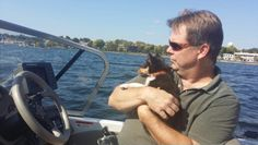 Scouts first boat ride