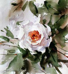 Buy Flowers Online Same Day Delivery Corneliu Dragan-Targoviste Watercolor Watercolor Images, Watercolor Rose, Watercolor Artists, Watercolor Landscape, Watercolour Painting, Watercolors, Art Floral, Botanical Art, Flower Art
