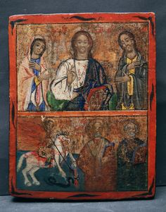 Antique - Religious Shop , Old Russian Icons Early Church Fathers, Fear And Trembling, Christ Pantocrator, Saint Gregory, John Chrysostom, Greek Icons, Toll House, Russian Icons, Orthodox Icons