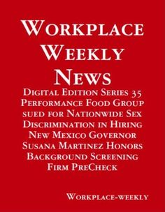 Performance Food Group sued for Nationwide Sex Discrimination in Hiring (Digital Edition) by Gloria Towolawi, http://www.amazon.com/dp/B00DHYTHWS/ref=cm_sw_r_pi_dp_mTUWrb1VHQY7D
