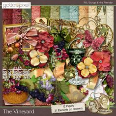 The Vineyard Digital Scrapbook Kit at Gotta Pixel. www.gottapixel.net/
