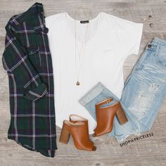 - Details - Size Guide - Model Stats - Contact Gather 'round the camp fire in this green Get Together Plaid Top! Featuring soft, flannel-knit fabric with minimal stretch. Fold-down collar and button-d