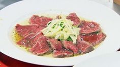 Beef Tataki with Rosemary, Honey and Ponzu Citrus Vinaigrette