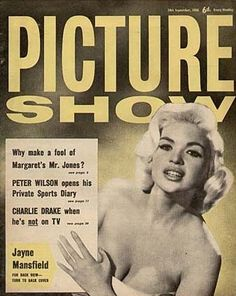 Jayne Mansfield on the cover of Picture Show magazine, 24 September, 1960, UK.