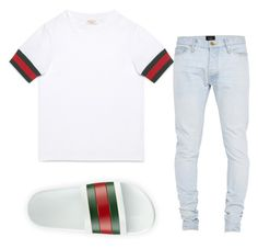 """""""gucci ✨"""" by polodwnquinn ❤ liked on Polyvore featuring Gucci, Fear of God, men's fashion and menswear"""