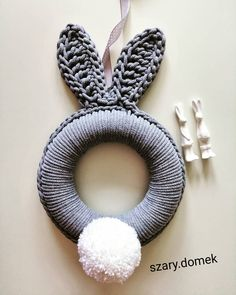 Sheep Crafts, Bunny Crafts, Easter Crafts For Kids, Diy Crafts Love, Cotton Cord, Crochet Rabbit, Diy Easter Decorations, Easter Crochet, Check