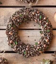 #wreath, acorns