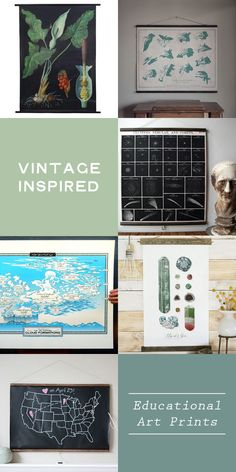 Vintage Inspired Educational Art Prints...