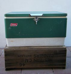Retro Green Vintage Coleman Cooler Ice Chest