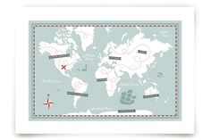 Treasure Map by Jessie Steury at minted.com