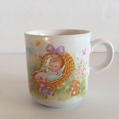 Russ Berrie Baby's First Easter Small Cup Made in Korea by afunspottoshop on Etsy