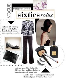 """Sixties-inspired orchid print"" by sherbetfountain on Polyvore"