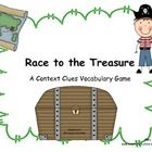 Students can practice using context clues to determine the vocabulary word in this pirate themed game. Included are four treasure map game boards (...