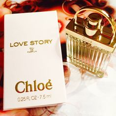 Chloe' Love story mini perfume 7.5 ml New, unused in a box! Travel size perfect for a weekend getaway! Sweet scent ❤️ Chloe Other