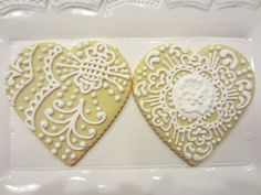 Valentine lacey hearts