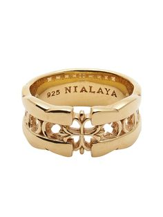 Easy Return & Exchange Service - Cross Cut-Out Ring 925 Solid Silver 18K Gold Plating Product Code: MRING_034
