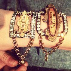 Rhinestone buckle bracelets