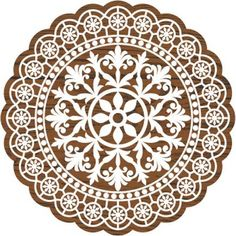 Fabric Creations Lace Doily Block Printing Stamp 5.4 x 4.3 x 1.2 Inches