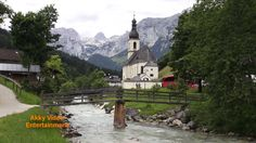 Die Wimbachklamm und die Kirche von Ramsau - Berchtesgadener Land - Reis...