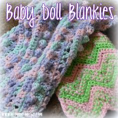 Mom On Timeout: Baby Doll Blankets {Crochet Patterns}