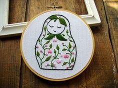 Embroidery pattern Matryoshka doll