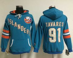 New York Islanders #91 John Tavares Baby Blue Women's Old Time Heidi NHL Hoodie 2 for $18 Topshop Basic Jersey