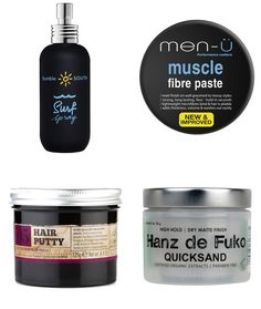 Men's Recommended Hair Styling Products - Textured Quiff