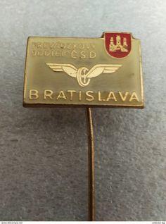 "RARE  CSD PREVADZKOVY ODDIEL  BRATISLAVA  70""S LOGO  VINTAGE  BADGE PIN - Transportation"