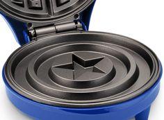Amazon.com: Marvel MVA-278 Captain America Shield Waffle Maker, Blue: http://amzn.to/2ujL3x7