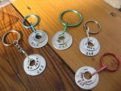 Washer keychains - I've seen lots of washer jewelry, but never thought of keychains