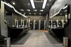Emeralda Golf Locker Room on Interior Design Served Locker Room Shower, Shower Cubicles, Gym Showers, Washroom Design, Public Bathrooms, Gym Decor, Gym Room, Changing Room, Gym Design