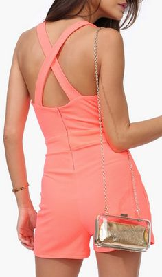 Lovely Summer Romper in Coral