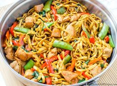Chicken Lo Mein - Homemade Takeout Style!