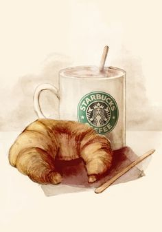 Starbucks Illustrations by Mitchell Nelson, via Behance