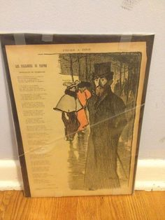 Theophile Steinlen Colored French Impressionist Stone Lithograph Music Sheet WOW | eBay
